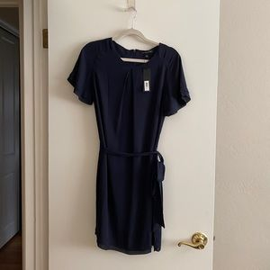 Banana Republic navy flowy dress